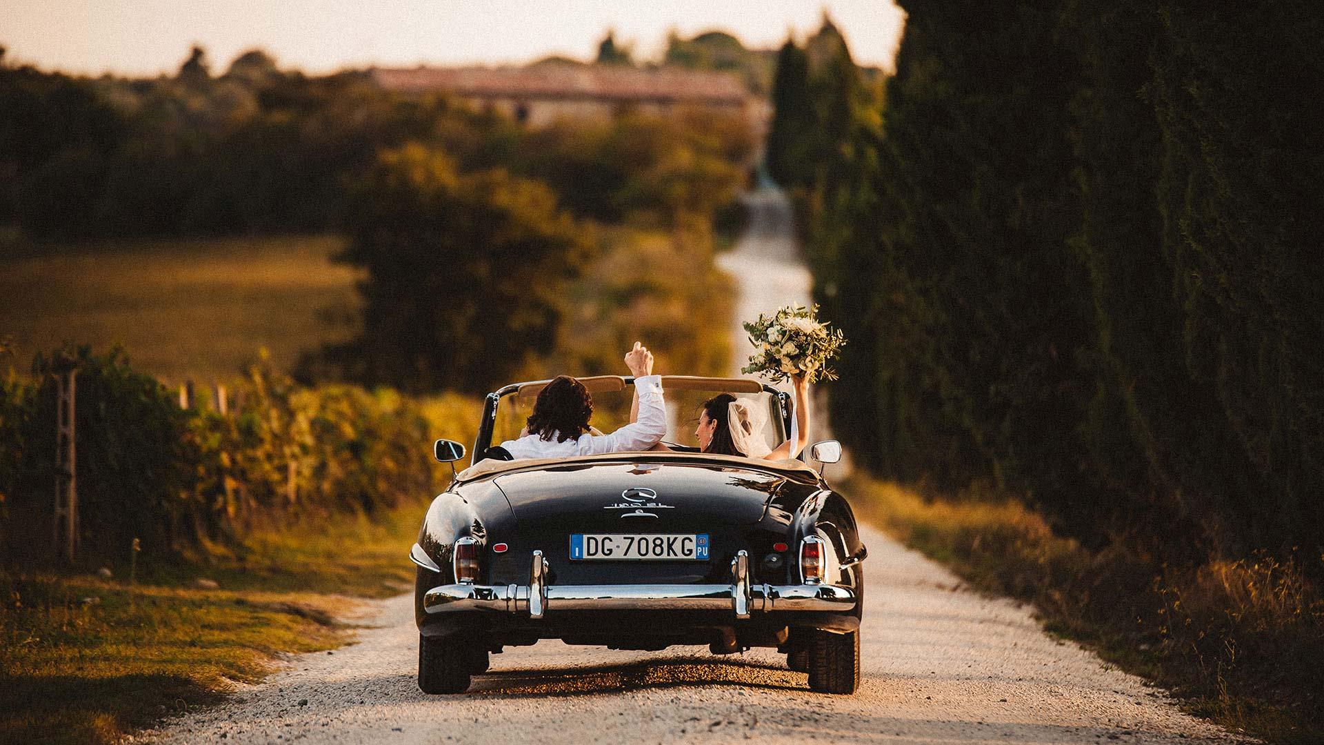Matrimonio in vigna in Toscana